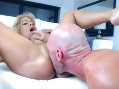Awesome breasty mature Alyssa Lynn