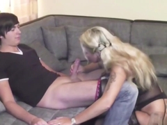 Step-Mother helps 18yr old Man from Neighboor with First Fuck