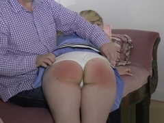 cheerleader spanked