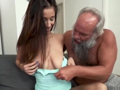 Teen rides old pervs dick