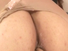 Kaede Oshiro gets panty in ass while is fucked and cum  - More at hotajp.com