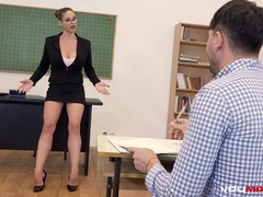 YOUMIXPORN Interactive Busty Teacher Cathy Heaven fucks horny student