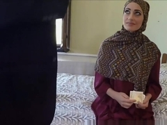Poor Arab Whore Desperate For Money Fucks Huge White Cock