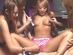 Incredible Japanese whore Yukina Aoki, Jyuri Sawaki, Rina Aina in Amazing Lesbian, Toys JAV movie