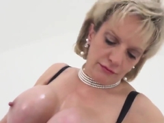 Unfaithful english milf lady sonia shows her monster tits