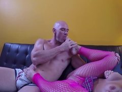Kissa Sins footjob and fuck