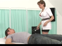 Milf Nurse with a Guy
