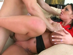 Busty Kerry Louise gets her tits glazed with jizz