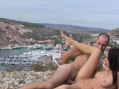 Aurita in amateur sex vid with a hottie fucking in nature