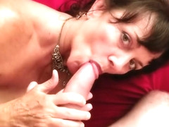 SireniaLeigh loves to laugh and play while giving a big cock a great blowjo
