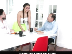 FamilyStrokes - Virgin Stepsis Gets April Fools Pranked With Vibrator