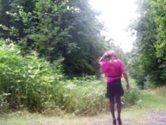 Horny amateur shemale clip with Masturbation, Outdoor scenes
