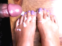 Loren Loves Foot Workouts And Dick Soccer Gets a White Splash Finish