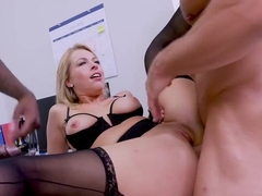 Zoey Monroe is a super sexy office lady who likes to get doublefucked during a coffee break