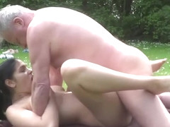 Busty Teen fucked by Old Man