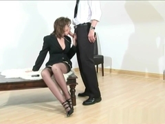 Sonia gets leashed and takes a huge load
