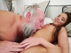 Horny Old Man Shows This Teenage Whore He Still Got Game
