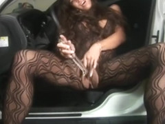 Homemade Hawaiian Creamy Car Squirt With Dildo