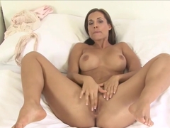 Satin Bloom Fingering Her Horny Pussy