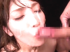 Classy busty Japanese Kokomi Sakura is getting wild when receiving a cumshot on her face