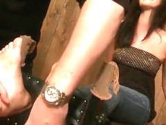 Tess Lyndon Feet and Pits Tickled