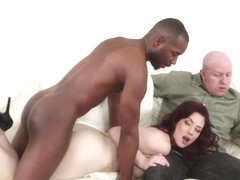 Redhead milf fucked in front of hubby by bbc