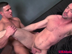 British hunk analizing handsome mate