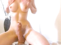Girl Tries MONSTER Dildo for First Time and CUMS!