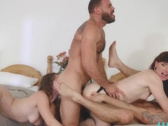 Natalie Mars & Ella Nova & Ricky Larkin & Wesley Woods in Free For All - WhyNotBi