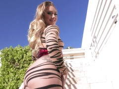 Aj Applegate in booty tigress on the hunt