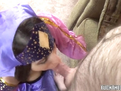 Horny MILF Lavender Rayne in a costume and taking dick