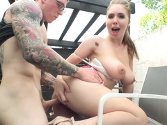 Lena Paul - Natural Gal Gets Paid For Blowjob