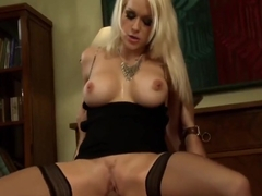 Stacy Silver In Black Stockings Gets Hard Fucking