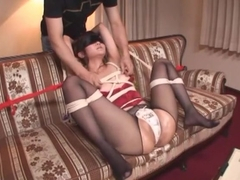 Incredible Japanese slut Saya Tachibana in Fabulous Stockings, BDSM JAV scene