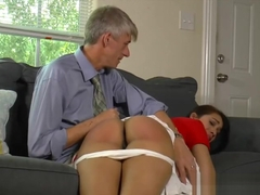 Kitty wedgie spanked&on her barebottom for using a fake ID