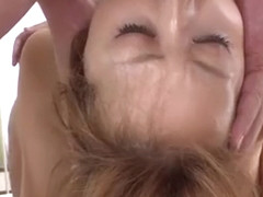 Racy oriental Asami Hoshikawa with impressive tits made fuck stick sucking sensation