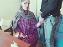 Hijab wearing arab babe fucked in missionary
