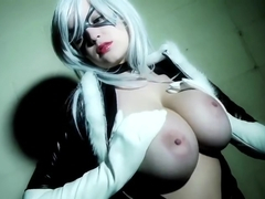 Tessa Fowler as Black Cat Cosplay