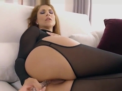 Hot babe Roberta Gemma stuffed hard by a big black cock