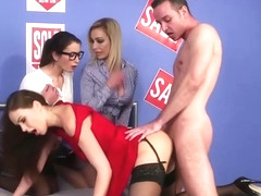 Femdom amateur doggystyled during CFNM scene