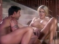 Julian Rios & Eve Lawrence: Handjob on stairs