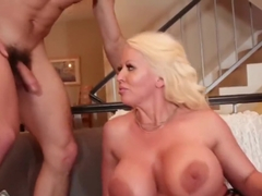 Stepmom fucks son and his bisex friend!