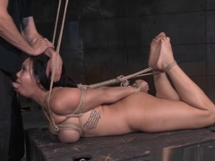 Hogtied Submissive Getting Throatfucked