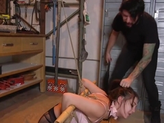 Perky Tits Slave In Torn Pantyhose