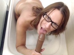 JessRyan Pov Brown Bubble Bath Blow Job in private premium video