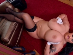 Ambrosial busty Leanne Crow in hot masturbation sex video