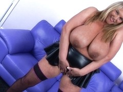 Big Tits Carol Brown Latex Fun