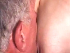 Curvy young blonde tease and fuck her old husband