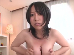 Big breasted Japanese babe Yuna Hoshizaki rides cock in POV
