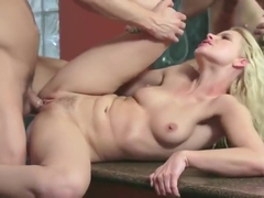 Pretty yellow-haired young whore Anikka Albrite having anal